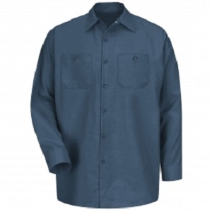 Agricultural Equipment Dark Blue Regular Long Sleeve Shop Shirt