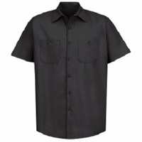 High Performance Black Tall Short Sleeve Shop Shirt