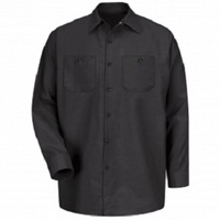 High Performance Black Regular Long Sleeve Shop Shirt