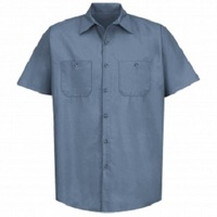 Robotics Postman Blue Regular Short Sleeve Shop Shirt