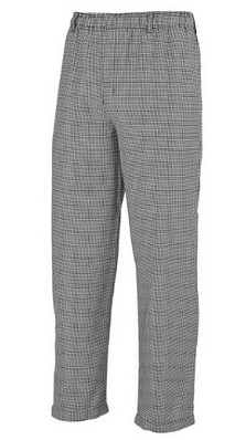 Unisex chef pant hounds tooth, L