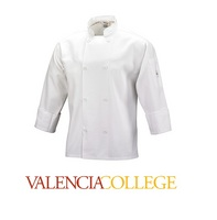 Unisex Cook Jacket, White  Traditional Buttons