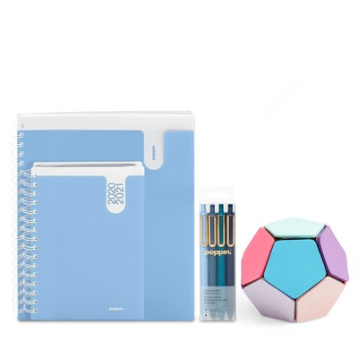 Poppin Planner and Accessories Set, Sky