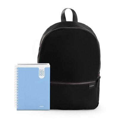Poppin Planner and Backpack Set, Sky  Black