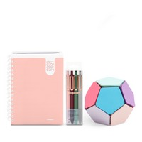 Poppin Planner and Writing Set, Blush