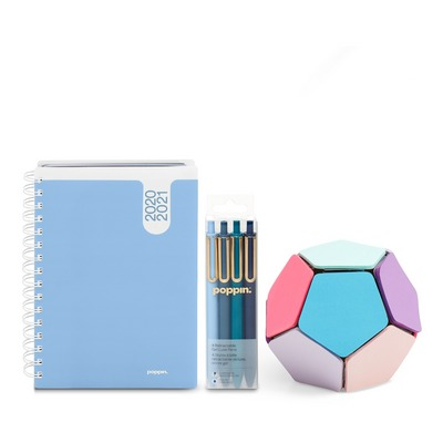 Poppin Planner and Writing Set, Sky