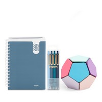 Poppin Planner and Writing Set, Slate Blue