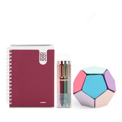 Poppin Planner and Writing Set, Wine