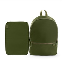 Poppin Backpack and Laptop Sleeve Set, Olive