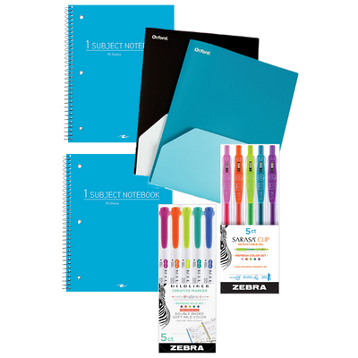 School Supplies Fashion Essentials Value Bundle 6pc