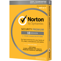 Norton Security Premium 3.0 MacWin Activation Card