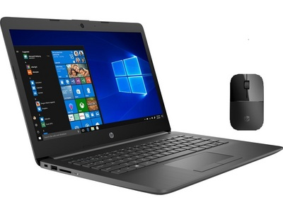 HP 14cm0046nr 14 Laptop Computer in Chalkboard Gray with Black z3700 Wireless Mouse