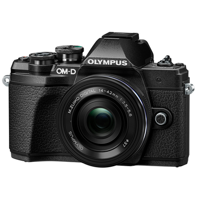 Olympus OM D E M10 Mark III 16.1 Megapixel Mirrorless Camera with Lens in Black