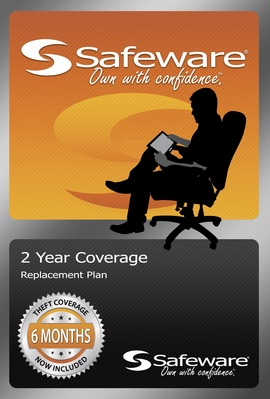 Safeware product protection plan, 2 year coverage (for products up to $400)