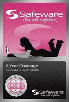SAFEWARE PRODUCT PROTECTION PLAN, 2 YEAR COVERAGE (FOR PRODUCTS UP TO $1,000)