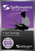 SAFEWARE PRODUCT PROTECTION PLAN, 4 YEAR COVERAGE (FOR PRODUCTS UP TO $1,000)