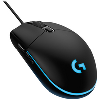 Logitech G203 Prodigy Wired Gaming Mouse with Programmable RGB Lighting in Black