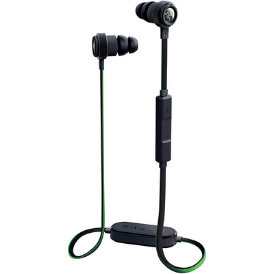 Razer Hammerhead Noise Cancelling Bluetooth Behind the Neck Earbuds with Detachable Magnetic Clip.