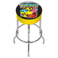 Arcade1Up  PacMan Metal Adjustable Stool  BlackYellow