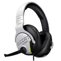 ROCCAT Khan AIMO HiRes 7.1 Surround Sound Gaming Headset in Black and White