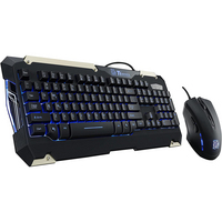 Tt eSPORTS Commander Blue Light Gaming Gear Keyboard and Mouse Combo