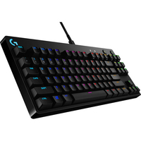 Logitech PRO Mechanical Gaming Keyboard with Pro Grade GX Blue Clicky Switches in Black