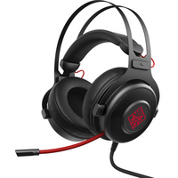 HP OMEN 800 Wired 20Hz 20kHz Stereo Gaming Headset with Retractable Microphone in Black
