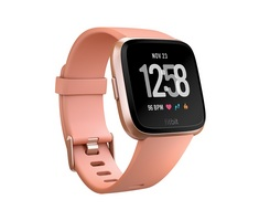 Fitbit Versa Watch Peach  Rose Gold Aluminum
