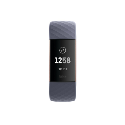 Fitbit Charge3 Activity and Fitness Tracker in Rose Gold and Blue Grey