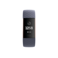 Fitbit Charge 3 Activity and Fitness Tracker with Large and Small Bands in Rose Gold and Blue Grey