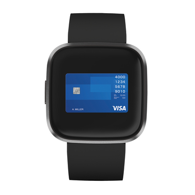 Fitbit Versa 2 Activity and Fitness Tracker in Black and Carbon