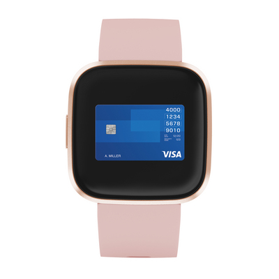 Fitbit Versa 2 Activity and Fitness Tracker in Petal and Copper Rose