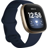 Fitbit Versa 3 Health and Fitness Watch  GPS in Midnight and Soft Gold