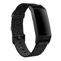 Fitbit Charge 4 Health Tracker with GPS in Black with Graphite Woven Band