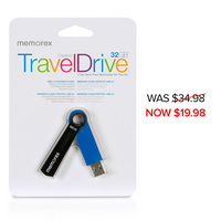 32GB TravelDrive Capless Blue