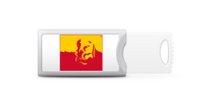 Pittsburg State University Custom Logo USB Drive Push 16GB, Silver