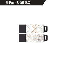 Centon MP VarietyPack USB 2.0 Datastick Pro2 (Metallic Marble, Gold Arrow  Gold X), 16GB 2Pack