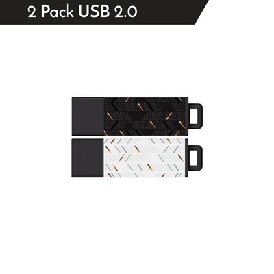 Centon MP VarietyPack USB 2.0 Datastick Pro2 (Metallic Dash, Gold White  Gold Black), 16GB 2Pack