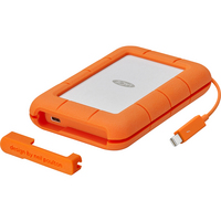 LaCie Rugged Thunderbolt USBC,  2TB,  Orange, Orange
