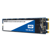 WD Blue 3D NAND 500GB PC SSD  SATA III 6 Gbs M.2 2280 Solid State Drive