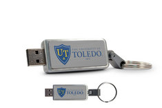 University of Toledo Custom Logo USB Drive Keychain 16GB