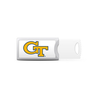 Georgia Tech University Custom Logo USB Drive Push 32GB Silver