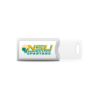 Norfolk State University Custom Logo USB Drive Push 32GB Silver