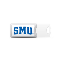 Southern Methodist University Custom Logo USB Drive Push 32GB Silver