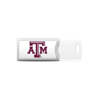 Texas A&M University Custom Logo USB Drive Push 32GB Silver
