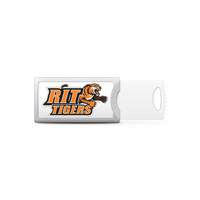 Rochester Institute of Technology Custom Logo USB Drive Push 32GB Silver