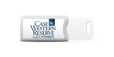 Case Western Reserve University Custom Logo USB Drive Push 32GB Silver