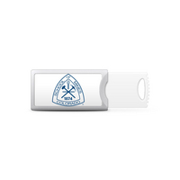Colorado School of Mines Custom Logo USB Drive Push 32GB Silver