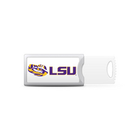Louisiana State University Custom Logo USB Drive Push 32GB Silver