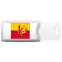 Pittsburg State University Custom Logo USB Drive Push 32GB, Silver
